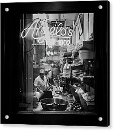 Angelo's Of Mulberry Street Acrylic Print by Michael Gerbino
