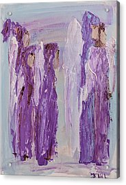 Angels In Purple Acrylic Print