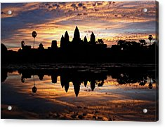 Acrylic Print featuring the photograph Angkor Wat Sunrise by Nicole Young
