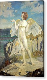 Angus Og, God Of Love And Courtesy, Putting A Spell Of Summer Calm On The Sea, 1908 Acrylic Print