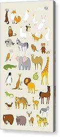 Animal Set Vector Illustration Wildlife Acrylic Print
