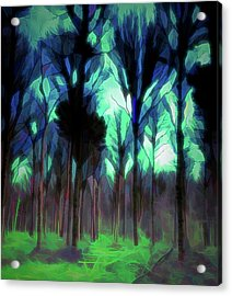Acrylic Print featuring the digital art Another World - Forest by Scott Lyons