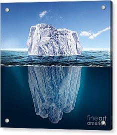 Antarctic Iceberg In The Ocean Acrylic Print