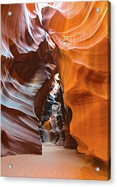 Acrylic Print featuring the photograph Antelope Canyon Glorious by Mark Duehmig