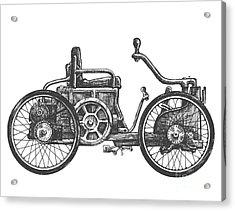 Antique Car Vector Logo Design Acrylic Print