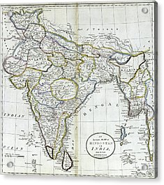 Antique Map Of India   Acrylic Print