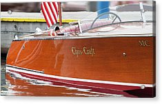 Antique Wooden Boat 1305 Acrylic Print