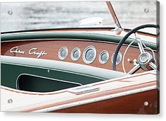 Antique Wooden Boat Dashboard 1306 Acrylic Print