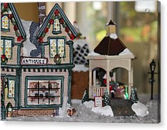 Antiques In Christmas Town Acrylic Print