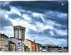 Acrylic Print featuring the photograph Apartment Buildings In Ourense by Eduardo Accorinti