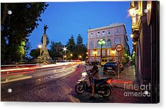 Acrylic Print featuring the photograph Apodaca Boardwalk Traffic Lights Cadiz Spain by Pablo Avanzini