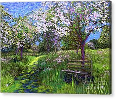 Apple Blossom Trees Acrylic Print
