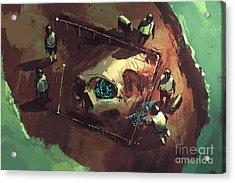 Archeology Dig,giant Skull,sci-fi Acrylic Print