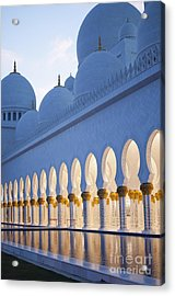 Arches Of Grand Mosque Of Abu Dhabi Acrylic Print