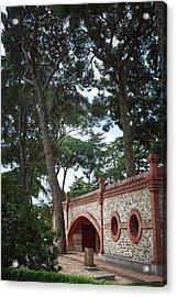 Architecture At The Gardens Of Cecilio Rodriguez In Retiro Park - Madrid, Spain Acrylic Print
