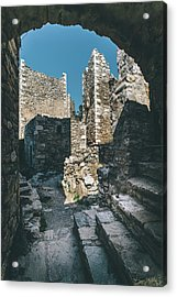 Architecture Of Old Vathia Settlement Acrylic Print