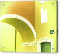 Archway At Antibes Acrylic Print by Tony Grider