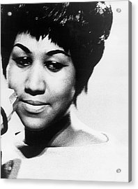 Aretha Franklin In The 1960s Acrylic Print