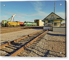 Arizona And California Railroad Headquarters And Engine Yard Acrylic Print