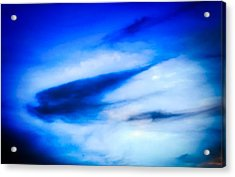 Acrylic Print featuring the photograph Arizona Angel In Blue by Judy Kennedy