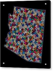 Arizona Map - 2 Acrylic Print