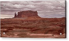 Acrylic Print featuring the photograph Arizona Red Clay Painted Desert Panoramic View by James BO Insogna