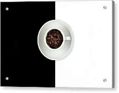 Acrylic Print featuring the photograph Aromatic Coffee Beans On The Pot by Michalakis Ppalis