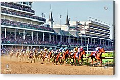 Around The First Turn Acrylic Print