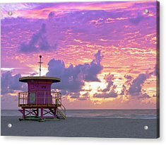Art Deco Style Lifeguard Station At Acrylic Print