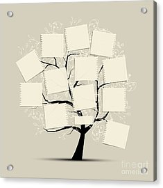 Art Tree With Papers For Your Text Acrylic Print