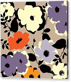 Art Vintage Floral Background Acrylic Print