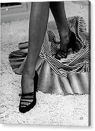 Artful Shot Of Model Showing Off A Pair Acrylic Print by Nina Leen