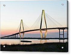 Arthur Ravenel Jr Bridge At Sunset Acrylic Print