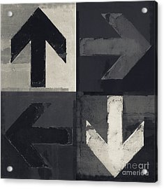 Artistic Grunge Design Monochrome Acrylic Print