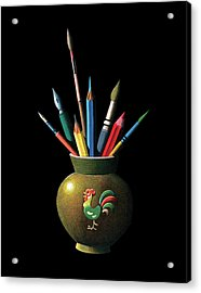 Artists Tools Acrylic Print by Graphicaartis