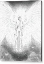 As An Angel She Realized Why - Artwork Acrylic Print