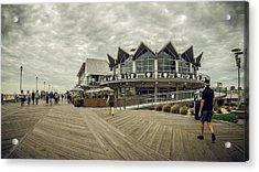 Asbury Park Boardwalk Looking South Acrylic Print