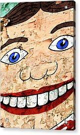Asbury Park Tillie Smile Mural Acrylic Print by John Rizzuto
