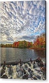 Acrylic Print featuring the photograph Ashland Mill Pond Dam by Juergen Roth