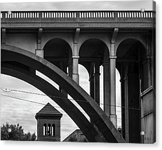 Acrylic Print featuring the photograph Ashton Viaduct I Bw by David Gordon