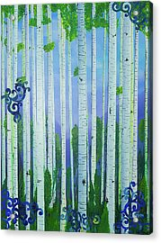 Aspens In Summer Acrylic Print