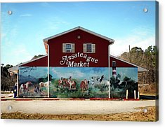 Acrylic Print featuring the photograph Assateague Market by Bill Swartwout Fine Art Photography