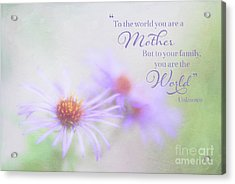 Asters For Mother's Day Acrylic Print