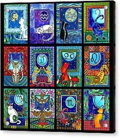 Astrology Cat Zodiacs Acrylic Print