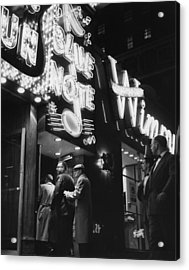 At The Blue Note Cafe Acrylic Print by Chicago History Museum