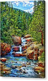 Acrylic Print featuring the digital art At The Speed Of Water by Joel Bruce Wallach