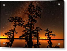 Acrylic Print featuring the photograph Atchafalaya Basin On Fire by Andy Crawford