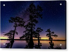 Acrylic Print featuring the photograph Atchafalaya Basin Under The Miky Way by Andy Crawford