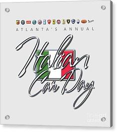 Atlanta's Annual Italian Car Day Logo Acrylic Print