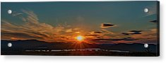 Acrylic Print featuring the photograph Attean Pond Sunset by Rick Hartigan